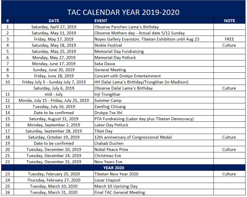 Chicago Events Calendar 2020 2019 2020 Event Calendar